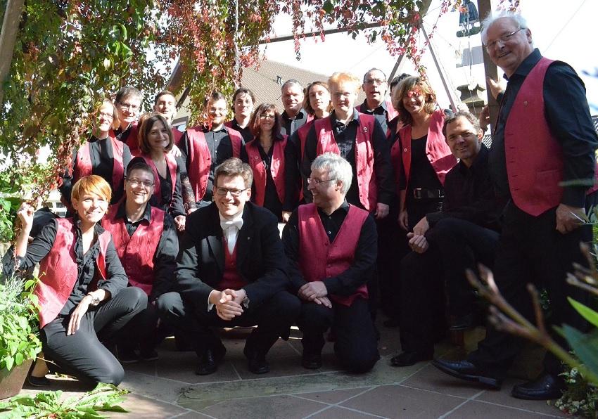 Gruppenbild des 1.Orchesters der Accordeon-Freunde Kraichgau